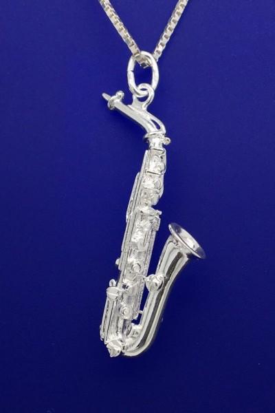 Altsaxophon als Anhänger R. Frey Silber