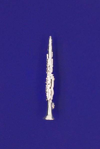 Klarinette als Brosche R. Frey Silber