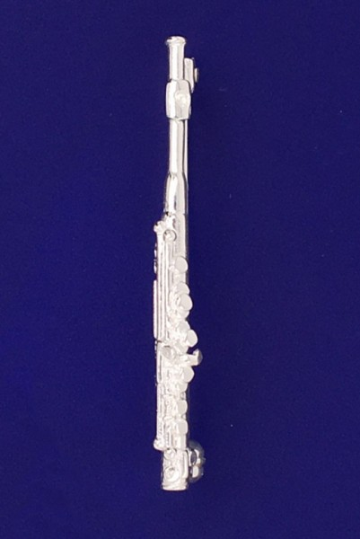Piccolo-Querflöte als Brosche R. Frey Silber