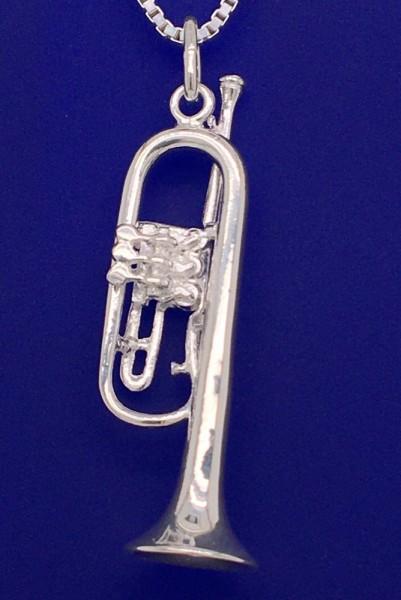 Flügelhorn als Anhänger R. Frey Silber