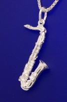 Tenorsaxophon als Anhänger R. Frey Silber