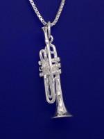 Trompete als Anhänger R. Frey Silber