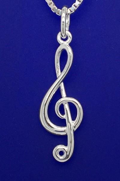 Violinschlüssel als Anhänger R. Frey Silber