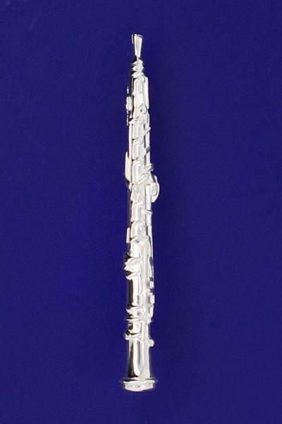 Oboe als Brosche R. Frey Silber