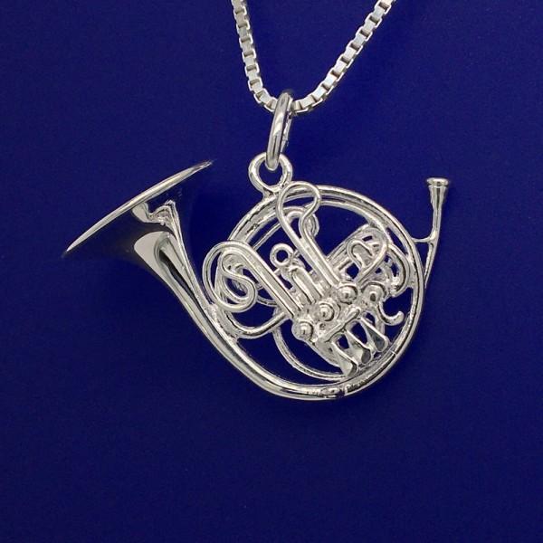 Doppelhorn als Anhänger R. Frey Silber